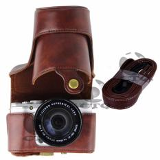 Icantiq Leather Case Sarung Bag Srap Camera For Fujifilm X-M1,X-A1/X-A2/XM1/XA2/XA1 Leather Pouch Camera Case Fuji film Kamera Fujifilm - Brown/ Coklat