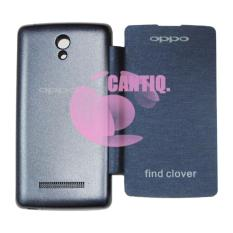 Cantiq Oppo Find Clover R815 Flip Cover Kulit Hardcase / Leather Cover / Sarung Handphone / Sarung Case / Flipcover Oppo R815 - Biru Tua