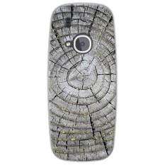 Topias Tpu Lukisan Lembut Kayu Pola Kotak Telepon untuk Nokia 3310 (2017)-Intl