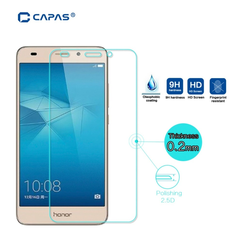 Jual Capas Tempered Glass Untuk Huawei Honor 5C Screen Protector Intl Branded Original
