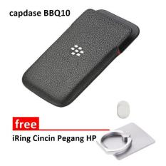 Capdase For Blackberry Q10 Royal - Hitam Gratis iRing Cncin Pegang HP