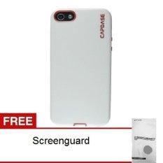 Capdase Soft Jacket Vika Iphone 5 5S Putih Merah Gratis Screenguard Di Yogyakarta