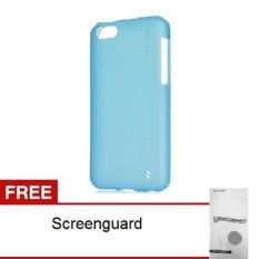 Capdase Soft Jacket Xpose iPhone 5C - Biru + Gratis Screenguard