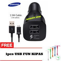 Spesifikasi Car Adapter Charger Samsung Dual Car Usb Fast Charging Original 1Pcs Usb Fun Kipas Lengkap
