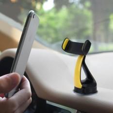 Mobil Otomatis Universal Dasbor Ganda Lapisan PU Dasar Telepon Dudukan Penahan, untuk iPhone, Galaksi, Huawei, xiaomi, Sony, LG, HTC, google dan Lainnya Ponsel Pintar dan Gps Panjang Antara 3.0 Inci dan 3.6 Inci-Internasional