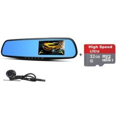Car Camera | Car Video Recorder Full HD 1080P | Car Video Camera4.3 Inch LCD with Dual Lens for Vehicles Front & RearviewMirror +32GB Micro SD Included - intl