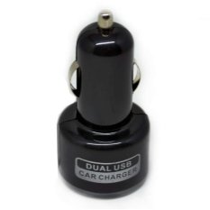 Car Charger Dual USB Car Charger iPhone, iPod, HTC with Light Ring - SP009 - Hitam