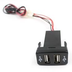 5 V 2 1A Mobil Dual Usb Port Dashboard Cepat Charger Adapter Tiongkok