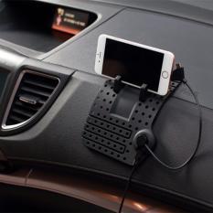 Car Holder Super Flexible Magnetic Charging Dashboard Mat Warna Hitam Murah
