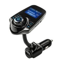 Mobil Kit Bluetooth Nirkabel Lepas Genggam FM Transmitter MP3 Pemain LCD USB Modulator-Intl