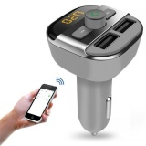 Jual Mobil Kit Mp3 Player Bluetooth Fm Transmitter Hansfree Lcd Tf Dual Usb Charger Intl Online Tiongkok