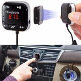 Toko Car Kit Wireless Bluetooth Fm Transmitter Mp3 Player Usb Sd Lcd Remote Handsfree Intl Di Tiongkok