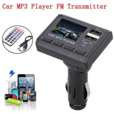 Mobil Musik Mp3 Pemain Pemancar Fm Modulasi Dual Pengisian Usb Sd Mmc Remote-Intl By Fashionlans.