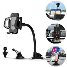 Car Phone Mount, Vansky 3-in-1 Universal Phone Holder Cell Phone Car Air Vent Holder Dashboard Mount Windshield Mount for iPhone 7 Plus,8 Plus,X,7,6S,6,Samsung Galaxy Note S6 S7 and More - intl