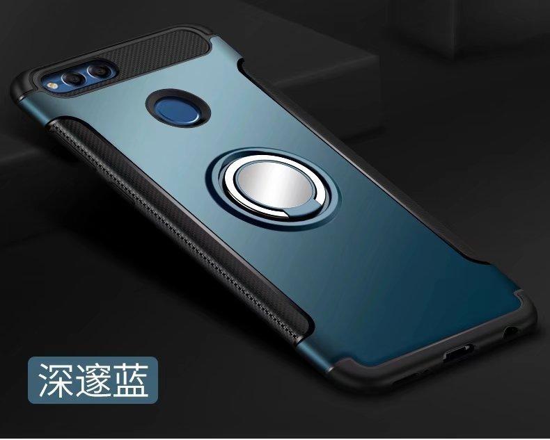 Car Ring Shockproof Shockproof Hard PC Belakang Sampul Case untuk Huawei Honor 7X-Intl