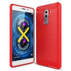 Carbon Fiber Resilient [DROP Protection] [Anti-Gores] Rugged Armor Case Cover untuk Huawei Honor 6X Merah-Intl