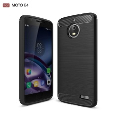 Karbon kasar Armor Cover case untuk Motorola Moto E4