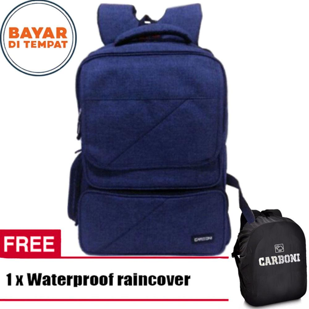 Beli Carboni Backpack Hing Spec Aa00026 17 Coffee Original Raincover Dki Jakarta