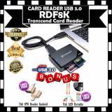 Harga Card Reader Usb 3 Rdf8K Transcend Black Gratis Usb Otg Raeder Android Led Usb Portable Merk Transcend