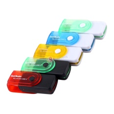 Kado Unik-- PAKET 2pcs Card Reader USB All In 1 - 4 Slot Model Flashdisk Putar