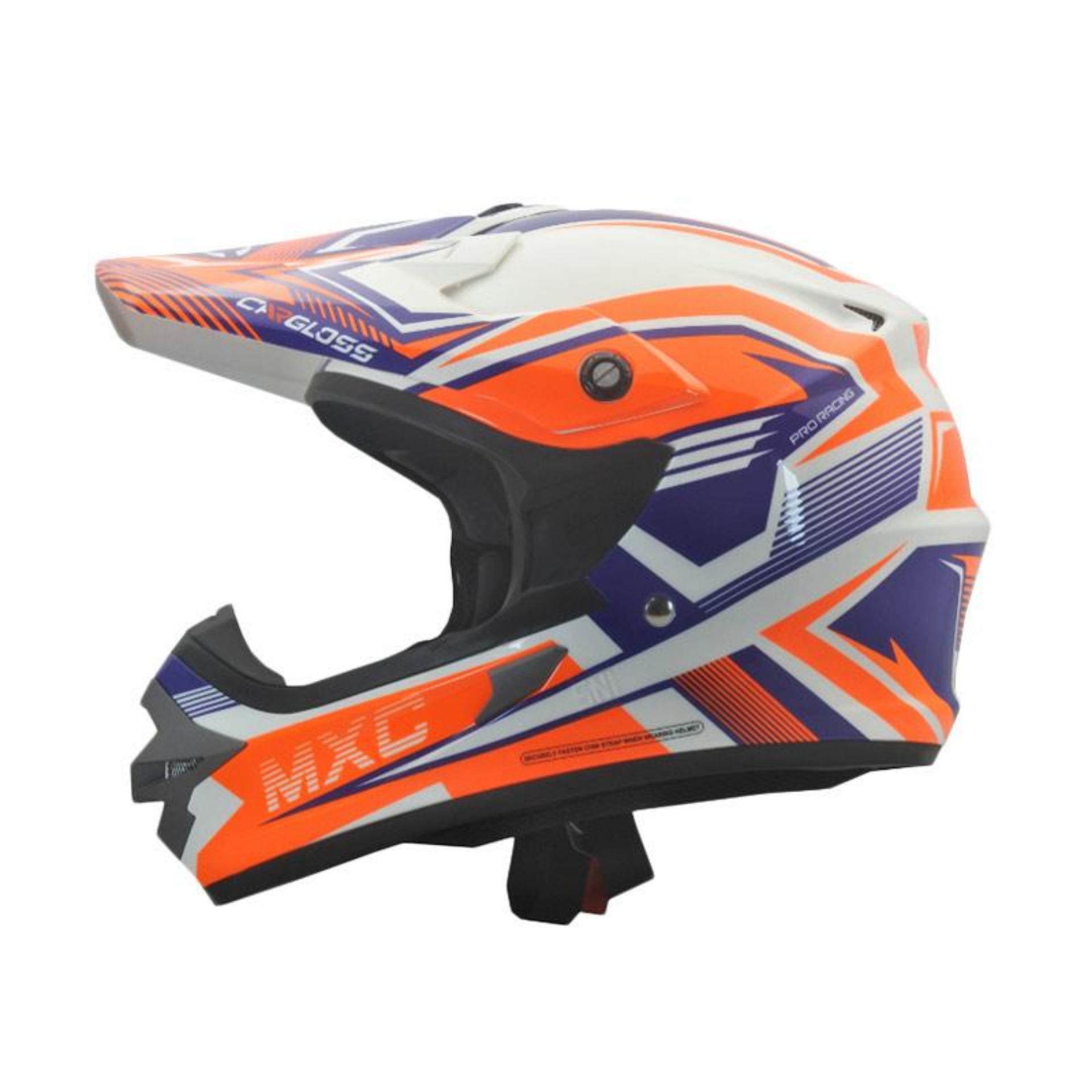 Cargloss MXC Pro Racing Helm Motocross - Orange SP Whity White