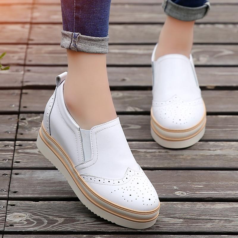 Harga Carrefour Musim Gugur Baru Mudah Dipakai Sepatu Wanita Putih Sepatu Wanita Flat Shoes Branded
