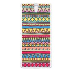 Review Terbaik Carstenezio Case Casing Sony Xperia C5 Ultra Or Sony Xperia C5 Ultra Dual Case Motif Batik Tribal 09 Putih