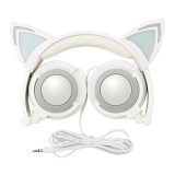 Spesifikasi Kartun Bisa Melipat Cat Ear Headphone Head Mounted Headphone Wired Headset Stereo Headphone Headset Ponsel Komputer Headset Intl Murah