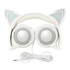 Diskon Kartun Bisa Melipat Cat Ear Headphone Head Mounted Headphone Wired Headset Stereo Headphone Headset Ponsel Komputer Headset Intl Camshot Tiongkok