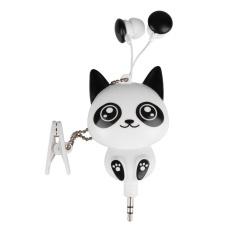 Model Kartun Kucing Panda Wired Retractable In Ear Headset Mp3 Earphone Headphone Intl Terbaru