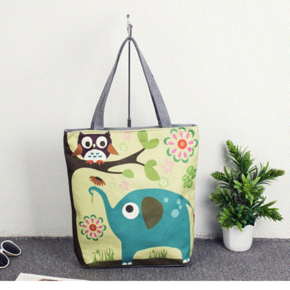 Cartoon printing bag tutorial bag canvas hand bag shoulder bag - intl