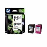 Harga Cartridge Hp 802 Combo Pack Black Tri Color Ink Original Cr312Aa Yg Bagus