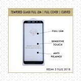 Beli Casa Tempered Glass 5D For Redmi 5 Plus 2018 Full Lem Full Screen Black