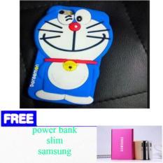 Case 3D Doraemon Vivo Y53 2017 Silicone 3D Vivo Y53 / Softcase K artun +free power bank samsung slim