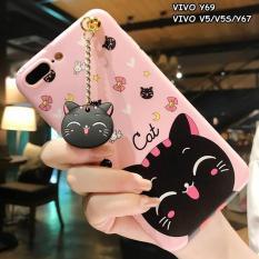 Review Toko Case 4D Karakter Cat Kucing Vivo V5 Y66 Y67 Softcase Soft 3D Kartun Random