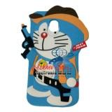 Case 4D Karakter Doraemon Cowboy Samsung J3 Pro 2017 J330 Soft 3D Boneka Askhev Diskon 30