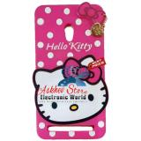 Spesifikasi Case 4D Karakter Hello Kitty Polkadot Asus Zenfone 5 Soft 3D Boneka Case Boneka 3D