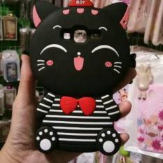 Case 4D Kucing Samsung Galaxy J3 2015/J300/J310/Casing /Softcase /Karakter /Boneka /3D