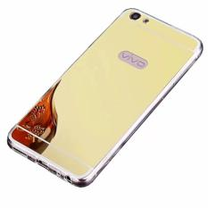 Case Aluminium Bumper Mirror For Vivo V5 / Y67 - Gold