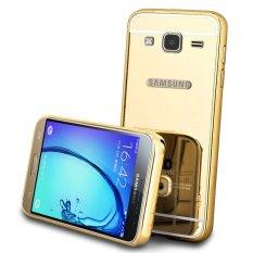 Case Aluminium Mirror Bumper for Samsung Galaxy A500 - Gold