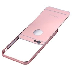 Case Apple Alumunium Bumper Mirror Apple iPhone 5G Case iphone 5S Bumper Iphone 5S Sliding Mirror Iphone 5 SE - Rose Gold