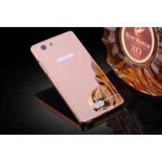 Case Alumunium Bumper With Sleding Mirror Oppo Neo 5 A31 Bumper Oppo A31 Back Case Oppo Neo 5 ( Hardcase Oppo Neo5)  - Pink Rose Gold