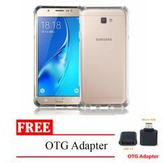 Case Anti Crack Elegant Softcase for Samsung Galaxy J5 2017 -  Clear FREE Micro USB OTG