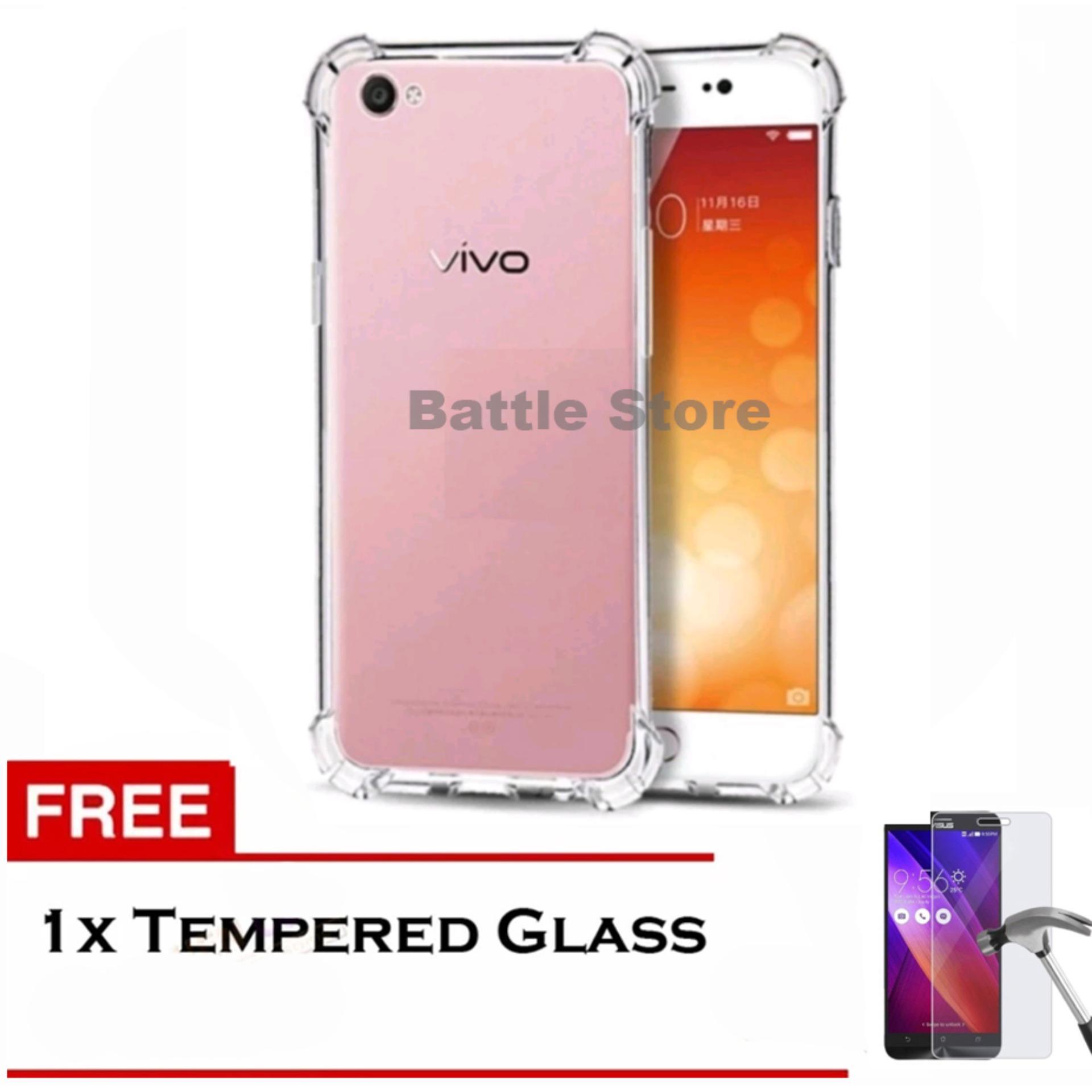 Case Anti Shock / Anti Crack Elegant Softcase for For Vivo Y53 + Free Tempered Glass