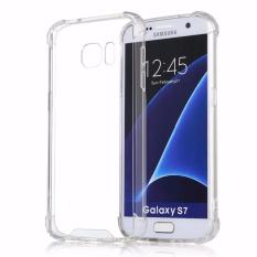 Case Anti Shock Anti Crack Softcase Casing for Samsung S7 Edge - Clear