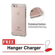 Case Anti Shock / Anti Crack Elegant Softcase for Apple Iphone 6 Plus / 6s Plus -  Clear + Free Hanger Charger