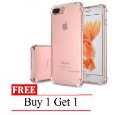 Case Anti Shock / Anti Crack Elegant Softcase for Apple Iphone 7+ (plus) / 7s + (plus) -  Clear + Free Buy 1 Get 1