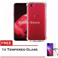 Case Anti Shock / Anti Crack Elegant Softcase for For Oppo F5 + Free Tempered Glass