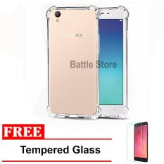 Case Anti Shock / Anti Crack Elegant Softcase for For Oppo Neo 9 ( A37 ) + Free Tempered Glass