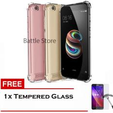 Case Anti Shock / Anti Crack Elegant Softcase for For Xiaomi Redmi 5A + Free Tempered Glass